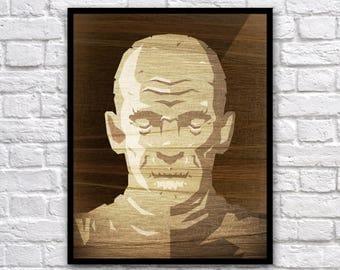 "Mummy Vect-o-Grunge 8x10"" Digital Print"