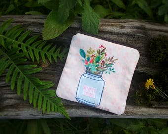Jolie pochette accessoires sac, porte-monnaie fleurs, trousse tissu, portefeuille pochette femme, petite trousse à maquillage, cadeau femme