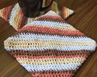 Crocheted potholders 100% cotton