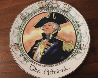 """Vintage Royal Doulton THE ADMIRAL 10 1/2"""" Plate Series Ware TC1045"""