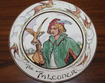"Vintage Royal Doulton THE FALCONER 10 1/2"" Plate Series Ware TC1046"