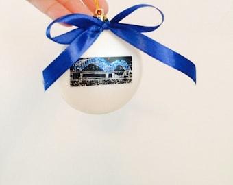 Ornament, Christmas, holidays, Memphis, TN, Bridge, Mississippi River