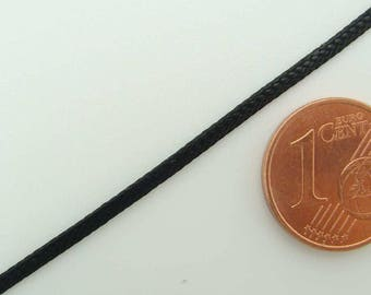 5 mètres FIL Plat 0,7x2mm nylon tressé cordon ruban Noir NT-07x2mm-noir