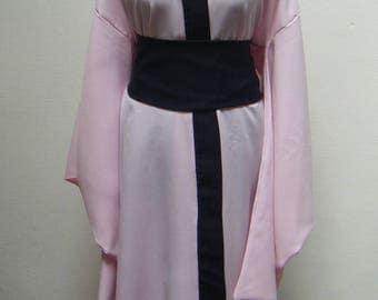 Pink & Black long kimono