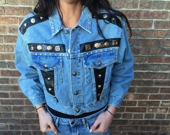 Cache Jean Jacket Knockoff Couture Medium 80's