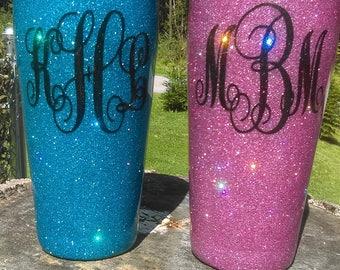 Hand Glittered Stainless Steel Tumbler,Ozark Trail Tumbler, Tumbler,Stainless Steel Tumbler,Over 75 Colors of Glitter