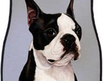Boston Terrier Car Mats By Artist Tamara Burnett  (set of 2)