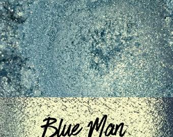 Blue Man, Blue Glitter, 10 gram jar, Mineral Eyeshadow Pigments