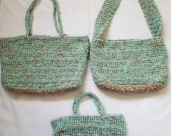 Camel tan/Copper and Minty 3 Piece Set