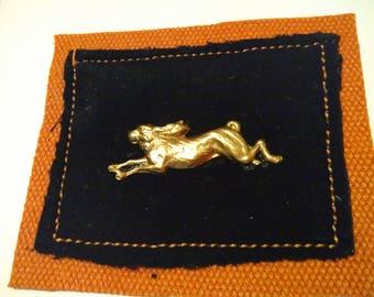 Golden Running Hare card