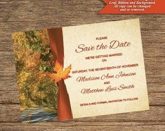 Fall Save The Date FALL-03-STD-Digital Download