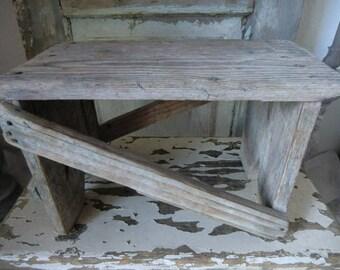 Small vintage Dressboy stool stool stool bench shabby