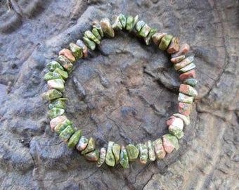Bracelet, power bracelet, Epidote, Unakite, precious stones, healing stones, Waldorf, Reiki, chakra