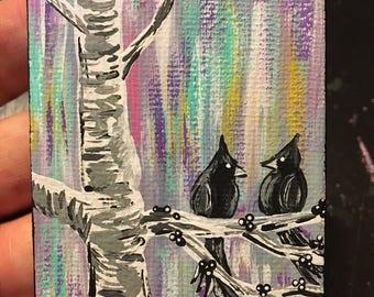 Tweet Birds in Tree Full Size Painting