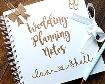 Handmade wedding planner etsy wedding planner wedding note book wedding notebook bride planner wedding organiser junglespirit Choice Image