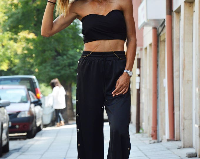 Summer Black Tank Top, Sleeveless  Bra Top, Extravagant Top, Elegant Top, Cocktail Top, Sexi Fitted Top by SSDfashion