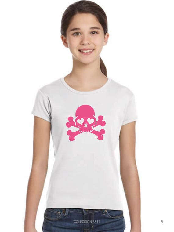 REBAJADO Girl t-shirt SKULL in various colors