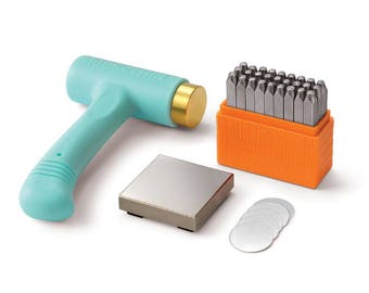 Metal Stamping Kit Impressart Uppercase Stamps Metal Stamps Alphabet Letters Steel Block Hammer Silver Blanks *NEW ITEM*