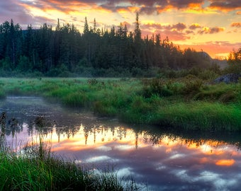 Landscape Photo, Adirondack Sunrise Photograph, Nature Print, Picture of Sunrise, Sunrise Print, Sunrise Picture, Fine Art Photography