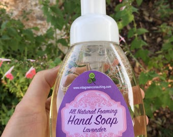 Lavender foaming hand soap | Natural hand soap | Essential oil soap | All-natural foaming soap | Vegan soap | Gifts