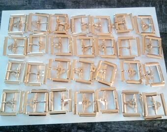 Buckle belt gold tone, 4.3 cm, set of 28