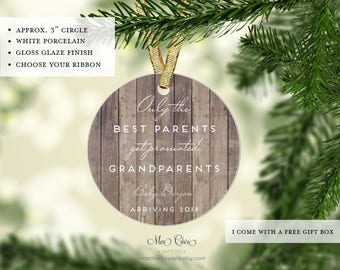 Only the Best Parents Get Promoted to Grandparents Christmas Ornament | Pregnancy Ornament | Expecting Announcement Ornament |Christmas Gift
