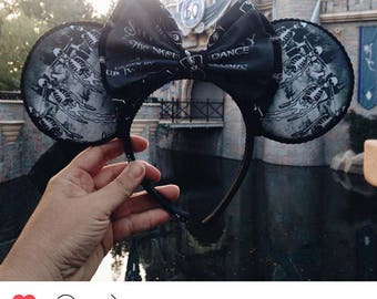 Silly symphony skeleton dance Minnie ears