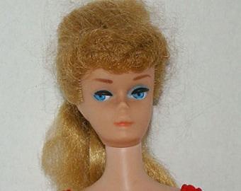 Vintage 1960s Barbie Doll Model 850 Blonde Ponytail #7 Solid Body | 1962-1963 Barbie Doll | Barbie Blonde Ponytail Doll