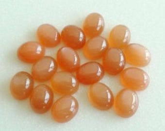 15 Pcs. lot 100% Natural Peach Moonstone oval shape cabochon for jewelry