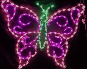 Valentine's Easter or Springtime Large Hanging Butterfly Wireframe Outdoor Holiday Yard Decoration Commercial Quality