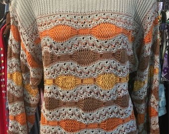 1980' Escada by Marghareta Lei summer pullover, sweater. Size M.