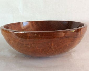 Wooden mesquite bowl, large