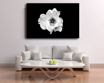 Digital Download Black & White Monochrome Rose Flower Digital Download Print Fine Art Photography Macro Nature Wall Art Botanical Print