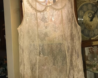 Vintage Victorian see through lace blouse