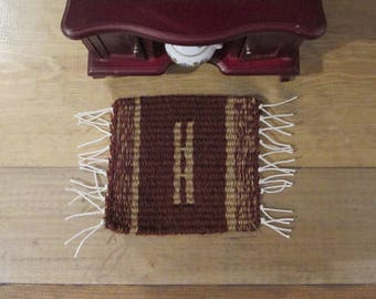 Handmade Miniature rug suitable  for victorian dollhouse 1:12 scale