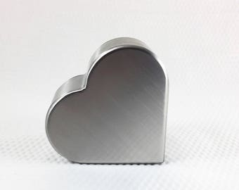 Heart Cremation Urn/keepsake urns/small Pet Urns/Cremation Urns/Metal Urns/Stainless Steel Urns/Urns for ashes/Made in USA/handcrafted urns