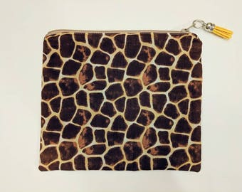 Animal Print Zipper Pouch