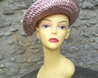 Selfridges pink straw sun hat