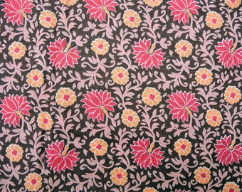 Vintage cotton fabric, flower fabric, floral fabric - 1.88x0.8 meters