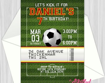Printable Soccer Party Invitation | Personalized