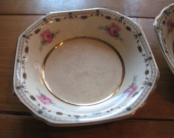"THOMAS HUGHES & flat SON.2 has desserts (4 ""3/4 x 1"") Coronation. Replacement pieces. Vintage"