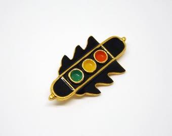 Traffic light pin - Soviet vintage enamel pin - Enamel driver pin - Vintage collectible enamel pin badge - Vintage enamel pin for kids
