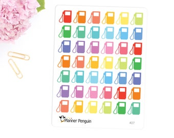 Gas pump stickers for Erin Condren Life Planner,EC Horizontal, Happy planner or any Planner // Item #027