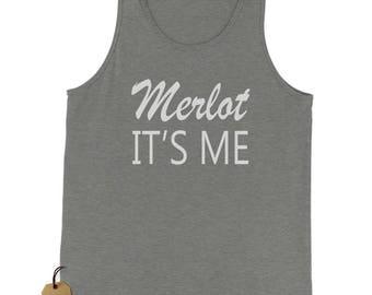 Merlot, It's Me Wine  Jersey Tank Top for Men