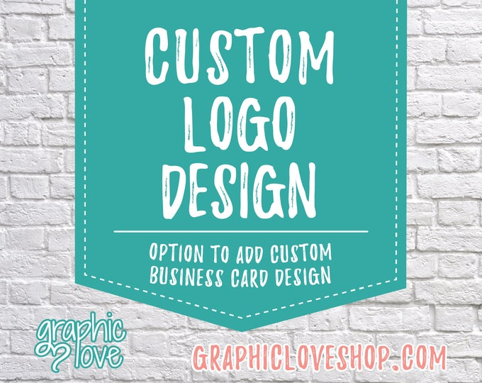Featured listing image: Custom Logo Design, Graphic Love Shop | Business Cards, Branding, Graphic Designer, Small Business, Ohio, Unlimited Changes