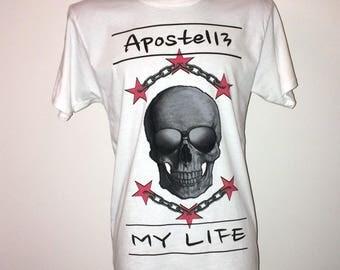 Men Urban Longshirt T-Shirt My LIFE My WAY White Black Size: S-XXL