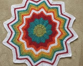 Rainbow Baby Star Blanket for Crib, Pram, Buggy or Car Seat