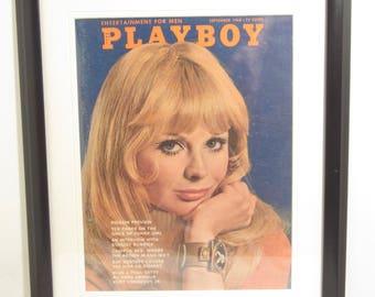 Vintage Playboy Magazine Cover Matted Framed : September 1968 - Erika Toth