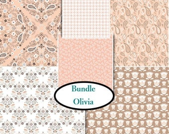 6 prints, Olivia, Camelot Fabric, 1 of each print