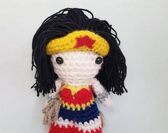 Wonder Woman amigurumi doll